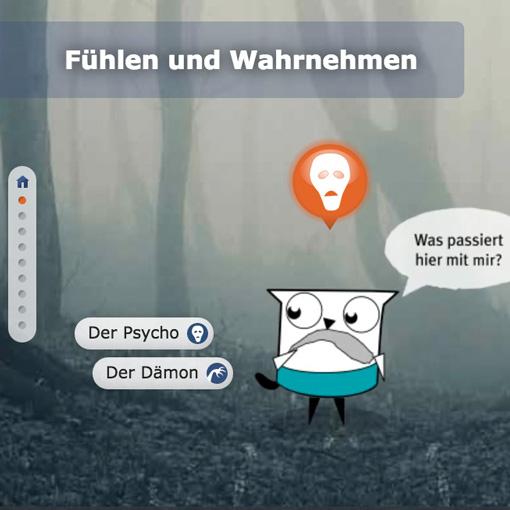 www.drugcom.de, interaktive Animation ›Was beim Kiffen alles passieren kann.‹