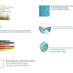 Entwürfe für das Logo der Beauftragten des Landes Brandenburg zur Aufarbeitung der Folgen der kommunistischen Diktatur (LAkD)